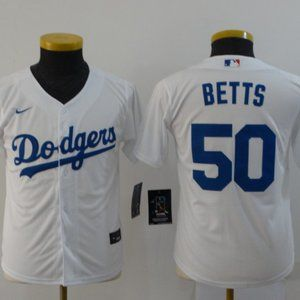 Youth Dodgers #50 Mookie Betts Jersey